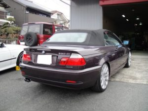 BMW E46 2DINナビ設置